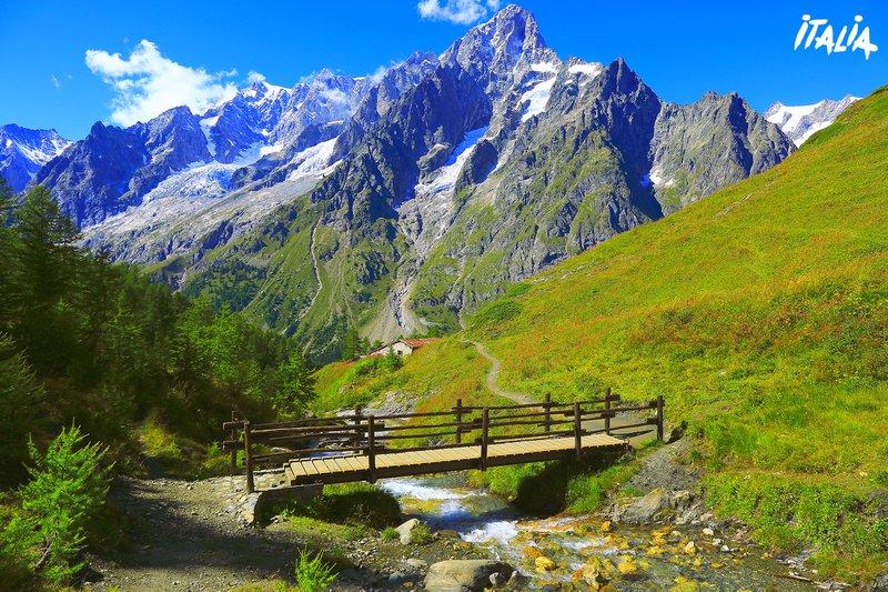 Aosta-vallei. Mont Blanc.