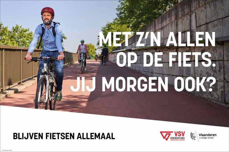 Campagnebeeld Blijven fietsen allemaal