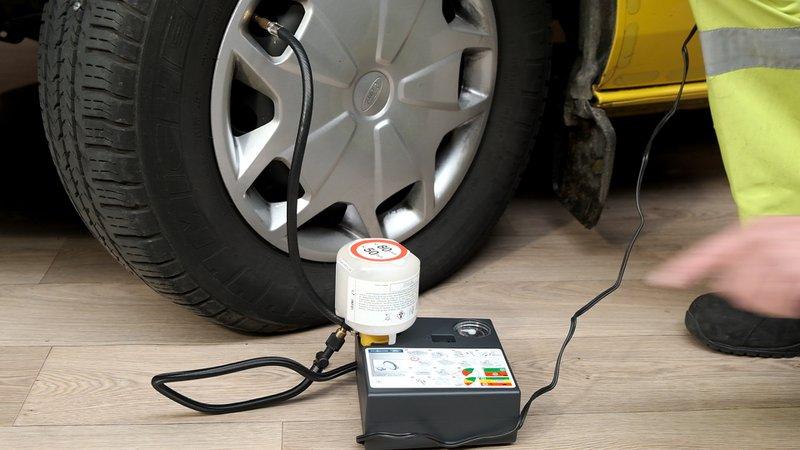 Après la réparation, il faudra vérifier régulièrement la pression du pneu