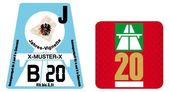 Vignette routière pour l'Autriche et la Suisse